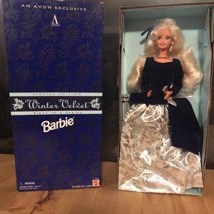 NIB 1995 Avon Winter Velvet Barbie